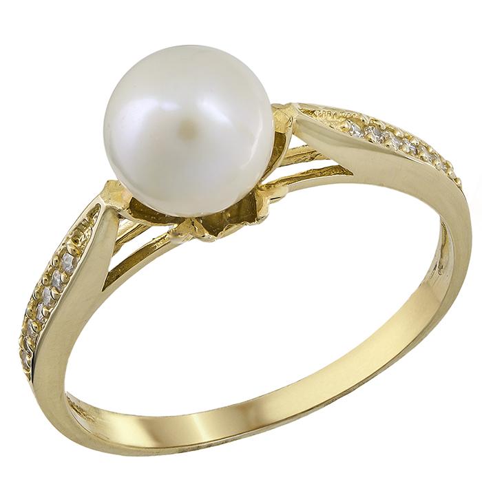 Δαχτυλίδι χρυσό Κ14 με μαργαριτάρι 021965 021965 Χρυσός 14 Καράτια