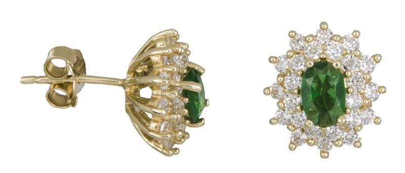 Χρυσά σκουλαρίκια ροζέτες Κ14 021666 021966 Χρυσός 14 Καράτια