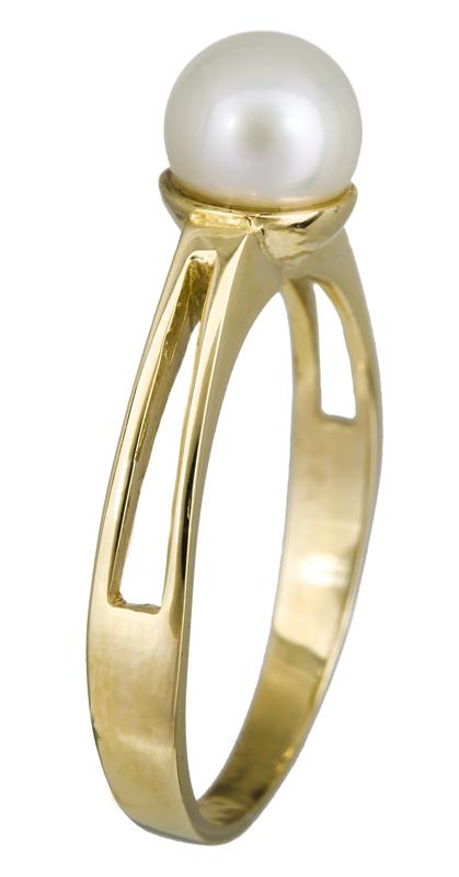Γυναικείο δαχτυλίδι Κ14 με μαργαριτάρι 021967 021967 Χρυσός 14 Καράτια