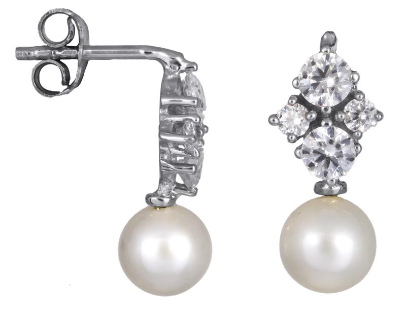 Γυναικεία σκουλαρίκια Κ14 με μαργαριτάρια 021978 021978 Χρυσός 14 Καράτια χρυσά κοσμήματα σκουλαρίκια καρφωτά