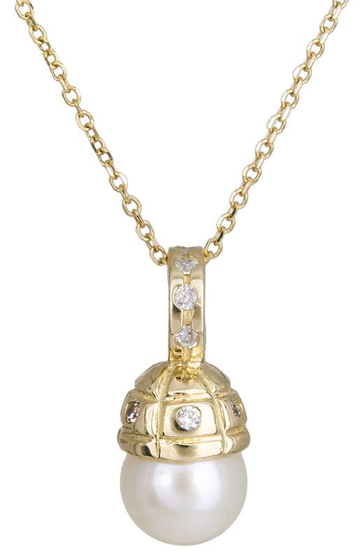 Χρυσό κολιέ Κ14 με μαργαριτάρι 021981 021981 Χρυσός 14 Καράτια