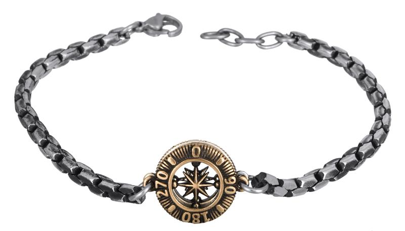 Αντρικό βραχιόλι πυξίδα BG/8104G BG/8104G Ατσάλι fashion jewels ascot βραχιόλια   χειροπέδες