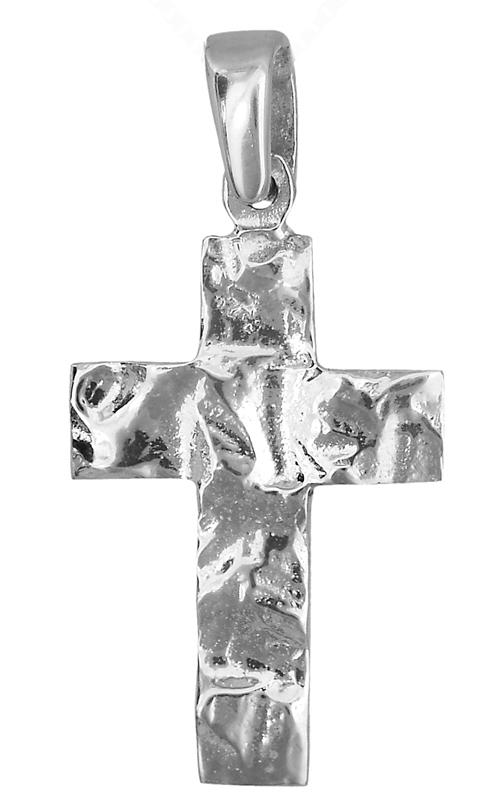 Λευκόχρυσος ανάγλυφος σταυρός 14Κ 021994 021994 Χρυσός 14 Καράτια