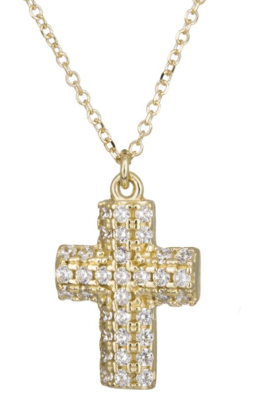 Χρυσό πετράτο σταυρουδάκι Κ14 022029 022029 Χρυσός 14 Καράτια