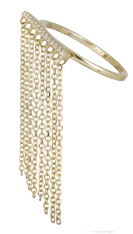 Σειρέ δαχτυλίδι με αλυσίδα Κ14 022034 022034 Χρυσός 14 Καράτια