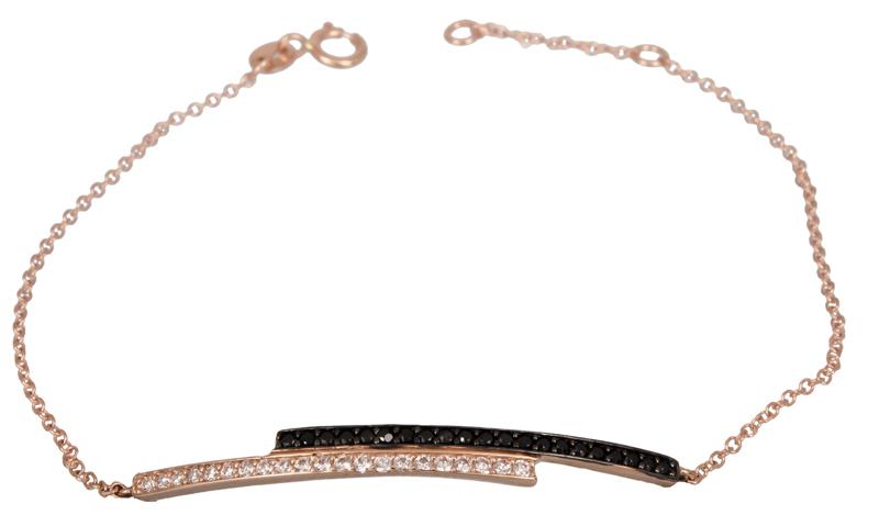 Ροζ gold βραχιόλι Κ14 με ζιργκόν 022040 022040 Χρυσός 14 Καράτια