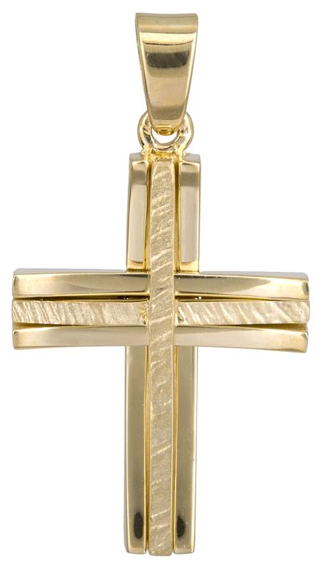 Σταυροί Βάπτισης - Αρραβώνα Χρυσός σταυρός βάπτισης 14Κ 022046 022046 Ανδρικό Χρυσός 14 Καράτια