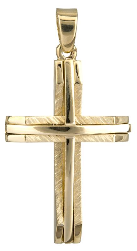 Σταυροί Βάπτισης - Αρραβώνα Χρυσός σταυρός βάπτισης Κ18 023586 023586 Ανδρικό Χρυσός 18 Καράτια