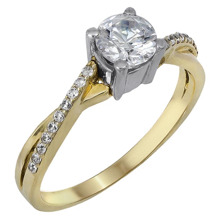 Μονόπετρο Κ14 με ζιργκόν 022084 022084 Χρυσός 14 Καράτια