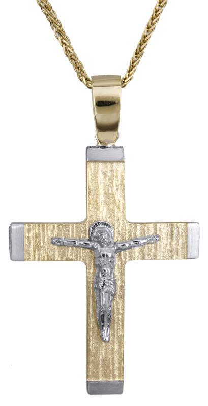 Βαπτιστικοί Σταυροί με Αλυσίδα Βαπτιστικός σταυρός για αγόρι Κ14 C022115 022115C Ανδρικό Χρυσός 14 Καράτια