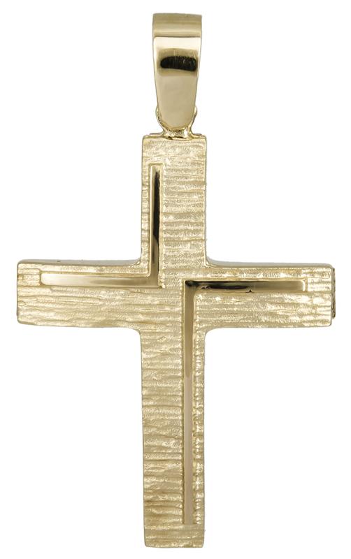 Σταυροί Βάπτισης - Αρραβώνα Χρυσός βαπτιστικός σταυρός 14Κ 022116 022116 Ανδρικό Χρυσός 14 Καράτια