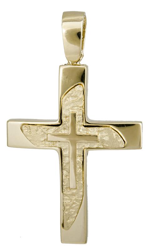 Σταυροί Βάπτισης - Αρραβώνα Χρυσός σταυρός βάπτισης 14Κ 022124 022124 Ανδρικό Χρυσός 14 Καράτια