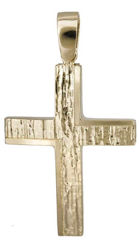 Σταυροί Βάπτισης - Αρραβώνα Χρυσός αντρικός σταυρός 14Κ 022127 022127 Ανδρικό Χρυσός 14 Καράτια
