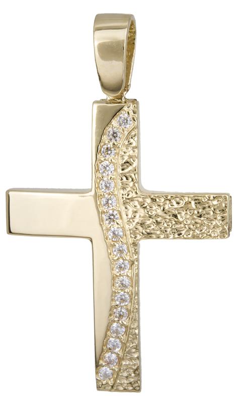 Σταυροί Βάπτισης - Αρραβώνα Χρυσός σταυρός βάπτισης Κ14 022135 022135 Γυναικείο Χρυσός 14 Καράτια