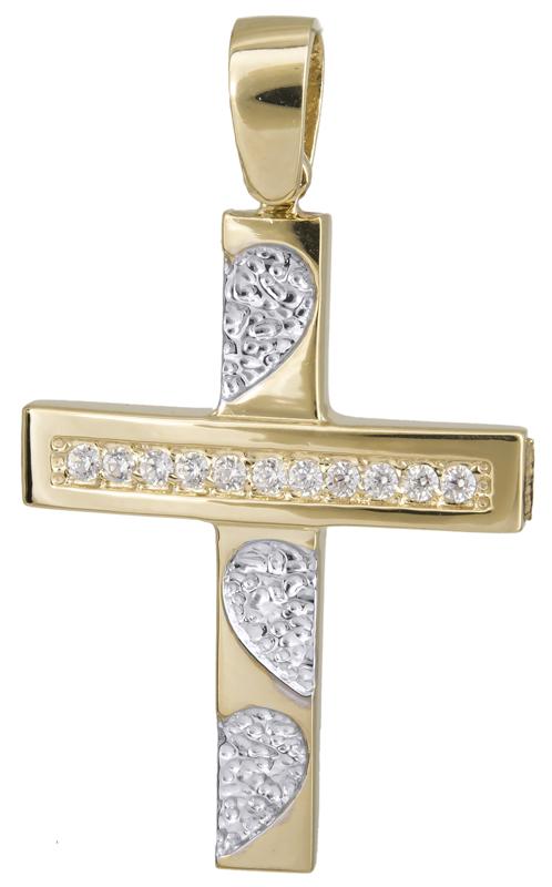 Σταυροί Βάπτισης - Αρραβώνα Γυναικείος σταυρός Κ14 022137 022137 Γυναικείο Χρυσός 14 Καράτια