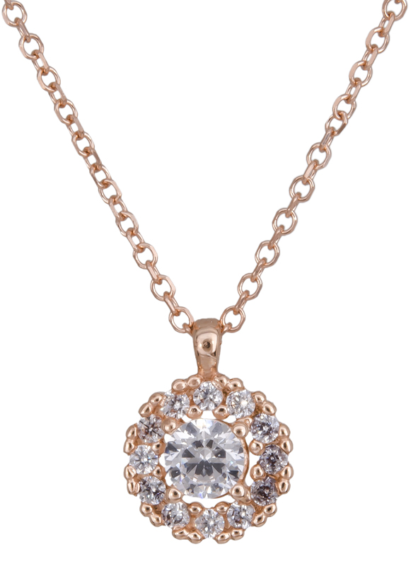 Ροζ χρυσό κολιέ ροζέτα Κ14 022177 022177 Χρυσός 14 Καράτια