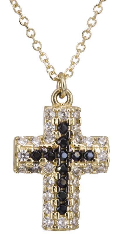 Γυναικείο κολιέ σταυρός Κ14 022190 022190 Χρυσός 14 Καράτια χρυσά κοσμήματα κολιέ