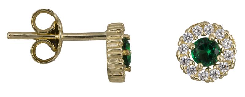 Σκουλαρίκια ροζέτες Κ14 022201 022201 Χρυσός 14 Καράτια
