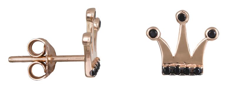 Ροζ gold κορώνες με πέτρες Κ14 022216 022216 Χρυσός 14 Καράτια