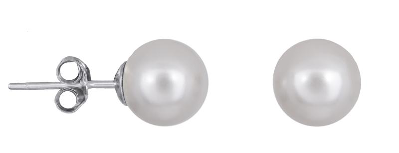 Ασημένια σκουλαρίκια με πέρλες 925 022246 022246 Ασήμι