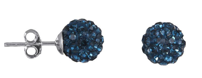 Σκουλαρίκια με μπλε πέτρες 925 022248 022248 Ασήμι