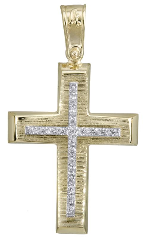 Σταυροί Βάπτισης - Αρραβώνα Χρυσός σταυρός βάπτισης Κ14 022280 022280 Γυναικείο Χρυσός 14 Καράτια