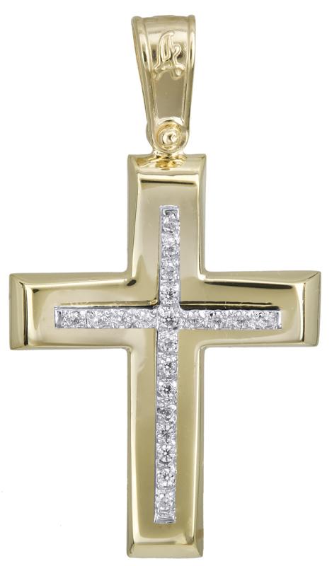 Σταυροί Βάπτισης - Αρραβώνα Κλασικός γυναικείος σταυρός Κ14 022282 022282 Γυναικείο Χρυσός 14 Καράτια