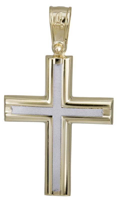 Σταυροί Βάπτισης - Αρραβώνα Κλασικός αντρικός σταυρός 14Κ 022291 022291 Ανδρικό Χρυσός 14 Καράτια