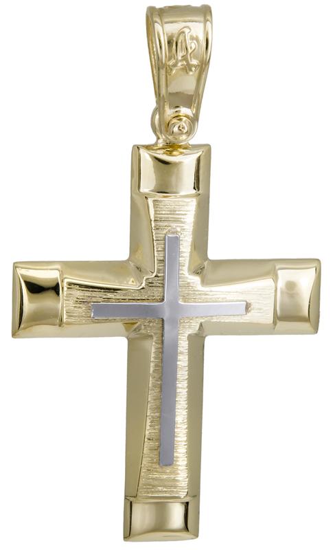 Σταυροί Βάπτισης - Αρραβώνα Αντρικός σταυρός βάπτισης 14Κ 022293 022293 Ανδρικό Χρυσός 14 Καράτια