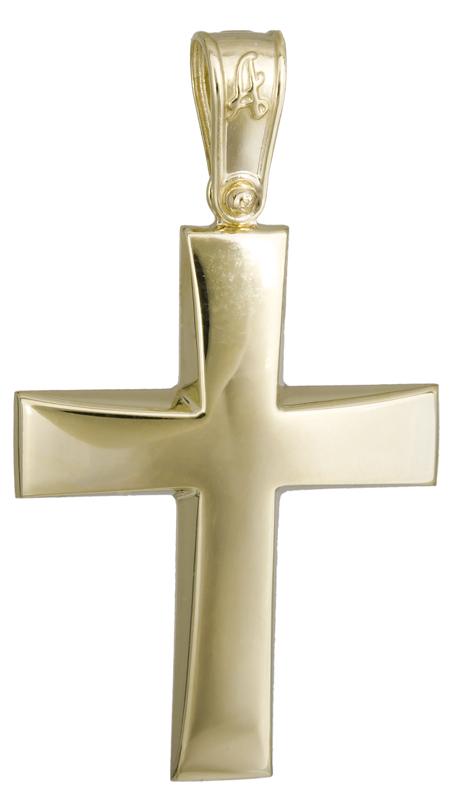 Σταυροί Βάπτισης - Αρραβώνα Κλασικός χρυσός σταυρός Κ14 022297 022297 Ανδρικό Χρυσός 14 Καράτια