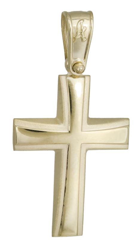 Ανδρικός σταυρός Κ14 022299 022299 Χρυσός 14 Καράτια