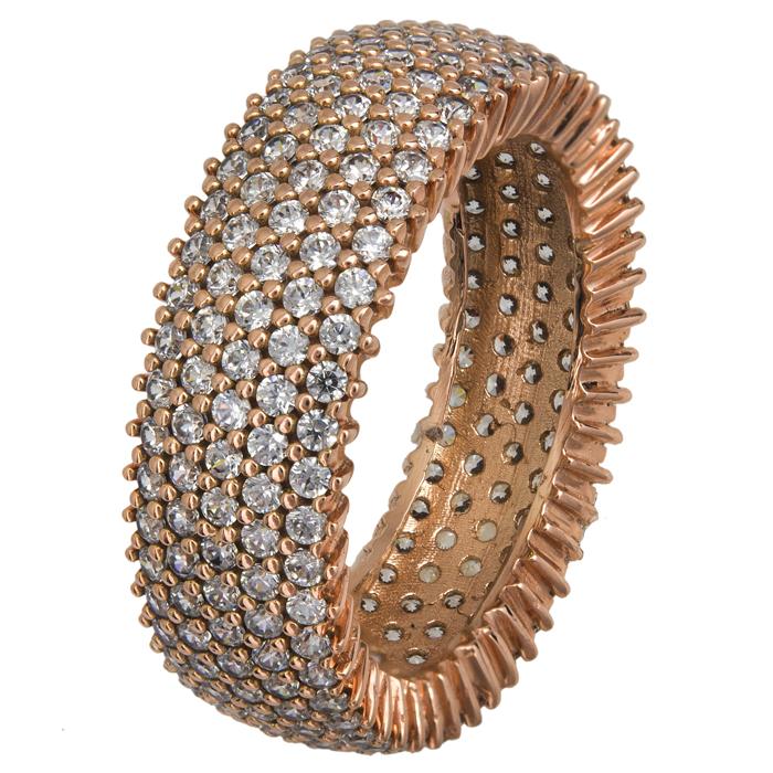Γυναικείο δαχτυλίδι Κ14 με ζιργκόν 022305 022305 Χρυσός 14 Καράτια χρυσά κοσμήματα δαχτυλίδια σειρέ ολόβερα