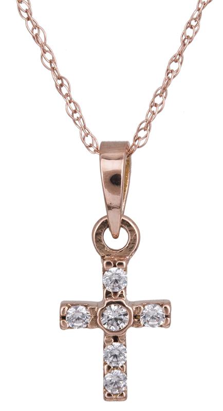 Γυναικείος σταυρός Κ14 022362 022362 Χρυσός 14 Καράτια