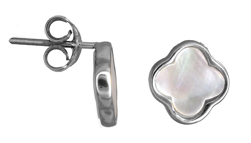 Λευκόχρυσα σκουλαρίκια φίλντισι Κ14 022423 022423 Χρυσός 14 Καράτια