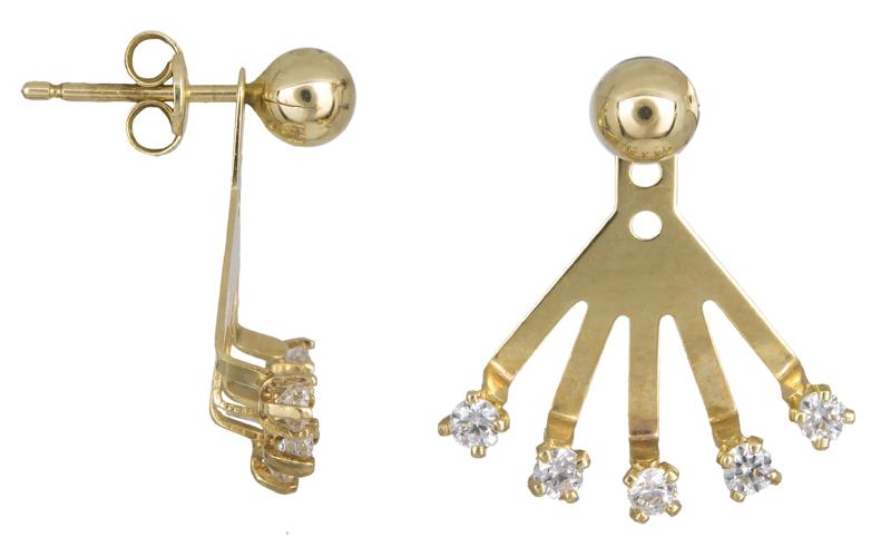 Χρυσά σκουλαρίκια Κ14 022430 022430 Χρυσός 14 Καράτια