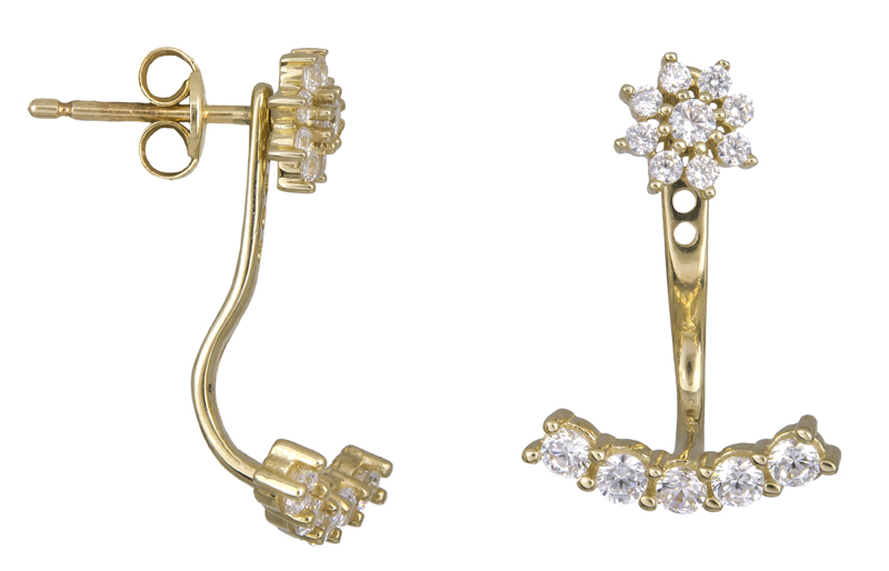 Γυναικεία σκουλαρίκια καρφωτά Κ14 022435 022435 Χρυσός 14 Καράτια
