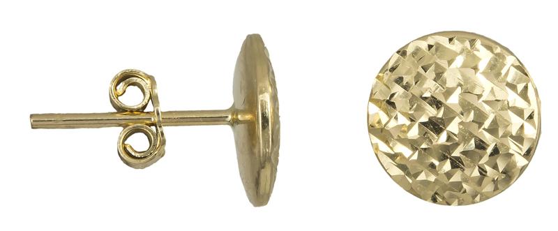 Γυναικεία σφυρήλατα σκουλαρίκια Κ14 022440 022440 Χρυσός 14 Καράτια