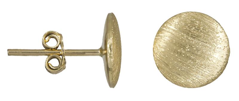 Γυναικεία ματ σκουλαρίκια Κ14 022442 022442 Χρυσός 14 Καράτια