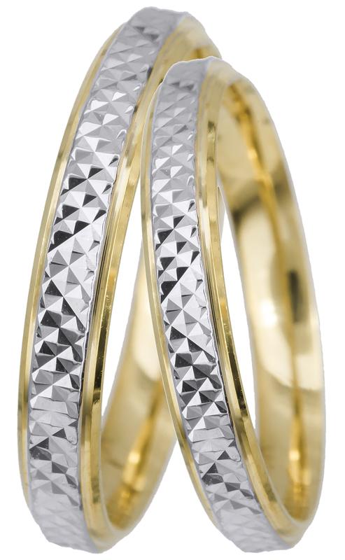 Βέρες γάμου δίχρωμες Κ14 022494 022494 Χρυσός 14 Καράτια