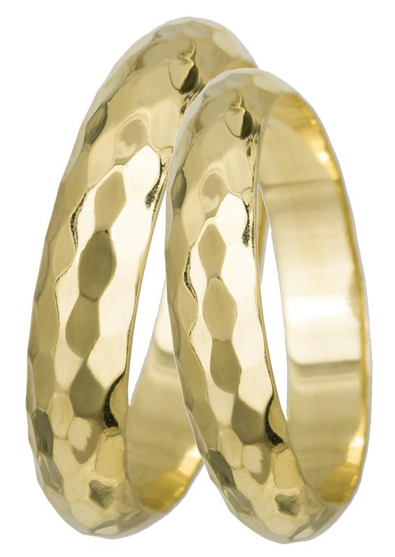 Σφυρήλατες βέρες γάμου Κ14 022496 022496 Χρυσός 14 Καράτια