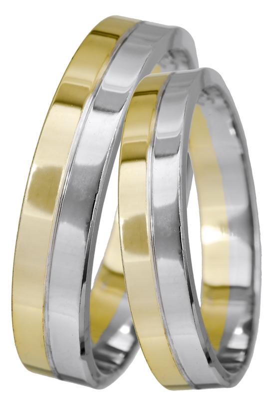 Δίχρωμες βέρες Κ14 022505 022505 Χρυσός 14 Καράτια