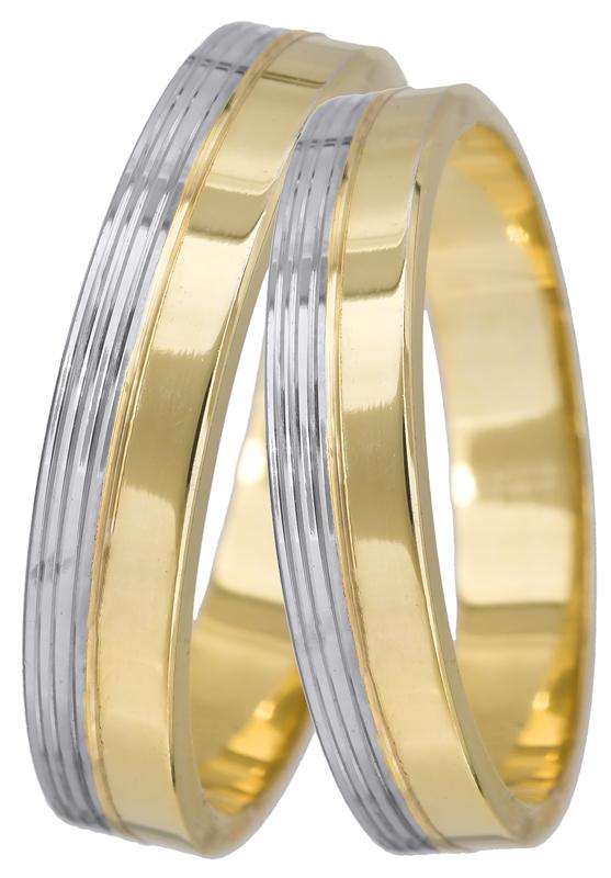 Δίχρωμες βέρες γάμου Κ14 022507 022507 Χρυσός 14 Καράτια