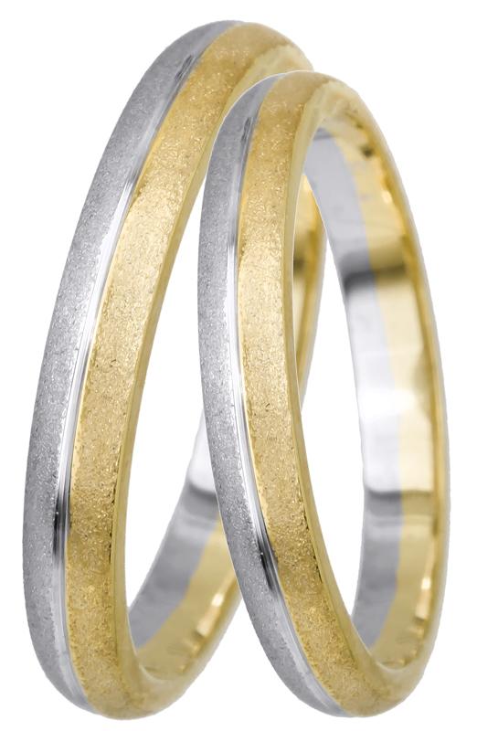Δίχρωμες ματ βέρες Κ14 022511 022511 Χρυσός 14 Καράτια μεμονωμένο τεμάχιο