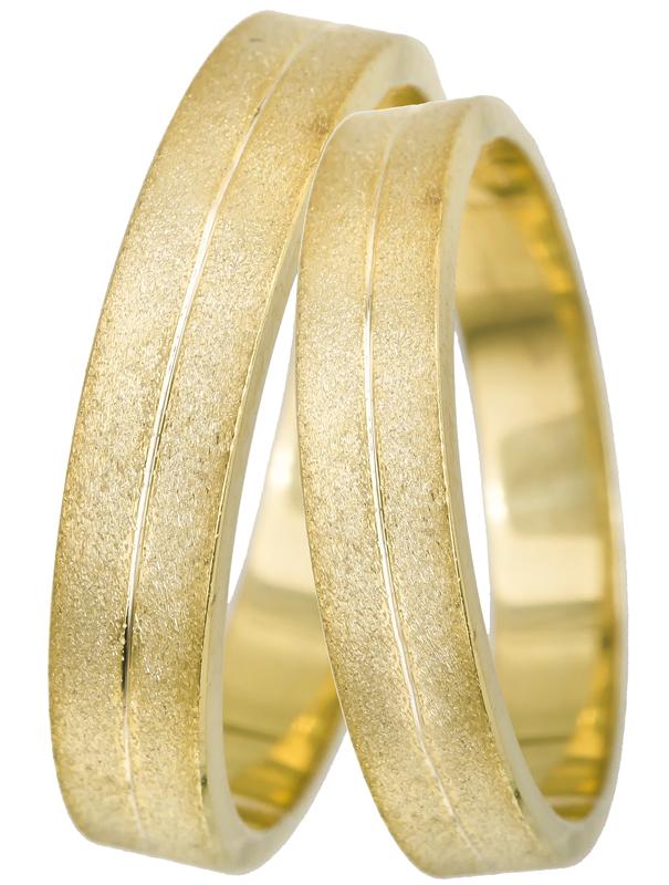 Χρυσές ματ βέρες γάμου Κ14 022513 022513 Χρυσός 14 Καράτια μεμονωμένο τεμάχιο