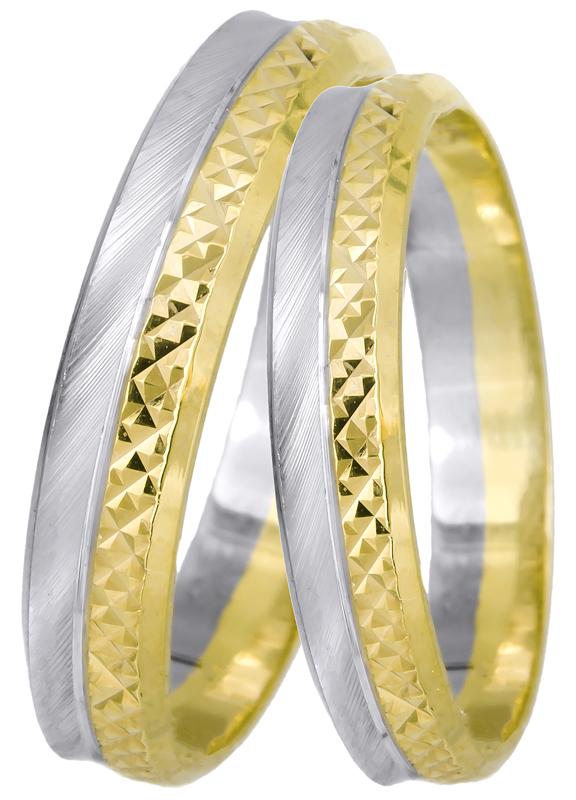 Δίχρωμες βέρες γάμου Κ14 022517 022517 Χρυσός 14 Καράτια