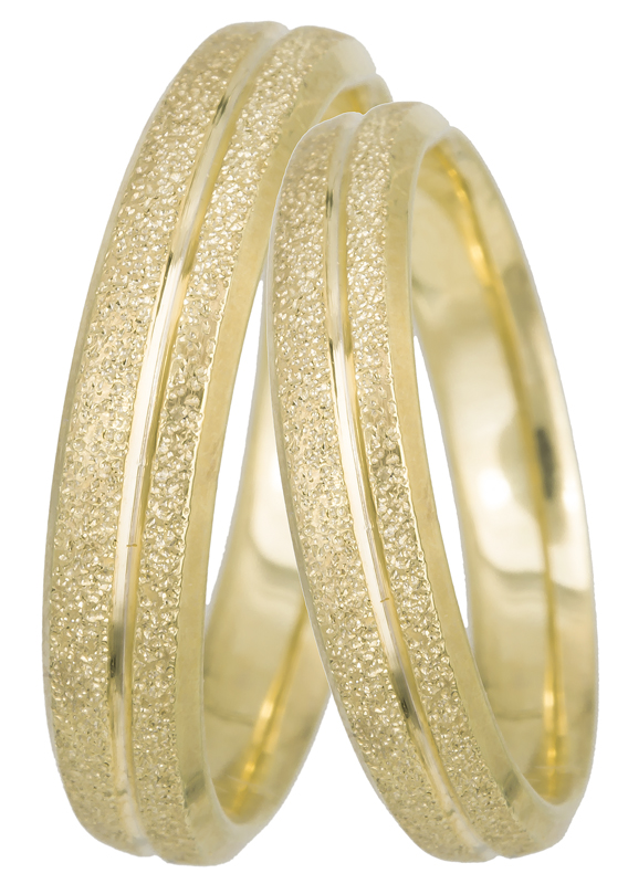 Χρυσές βέρες γάμου με αμμοβολή Κ14 022520 022520 Χρυσός 14 Καράτια