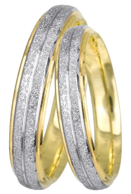 Βέρες γάμου σε διχρωμία Κ14 022528 022528 Χρυσός 14 Καράτια
