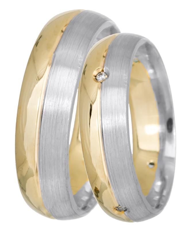 Δίχρωμες βέρες γάμου Κ14 022540 022540 Χρυσός 14 Καράτια