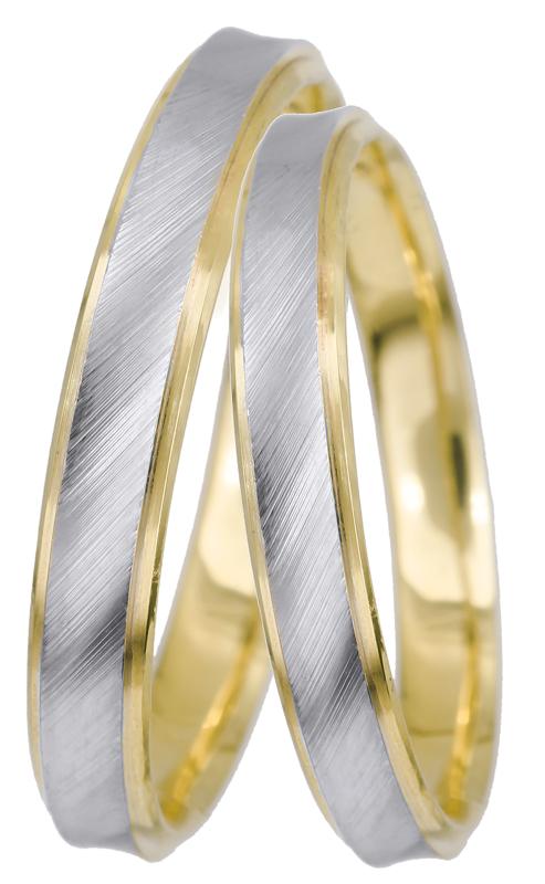 Δίχρωμες βέρες γάμου Κ14 022554 022554 Χρυσός 14 Καράτια