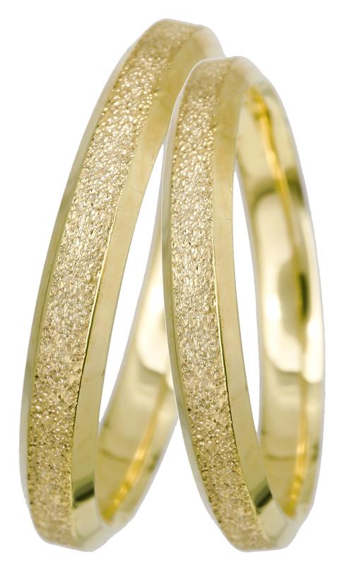 Χρυσές βέρες γάμου με αμμοβολή Κ14 022559 022559 Χρυσός 14 Καράτια